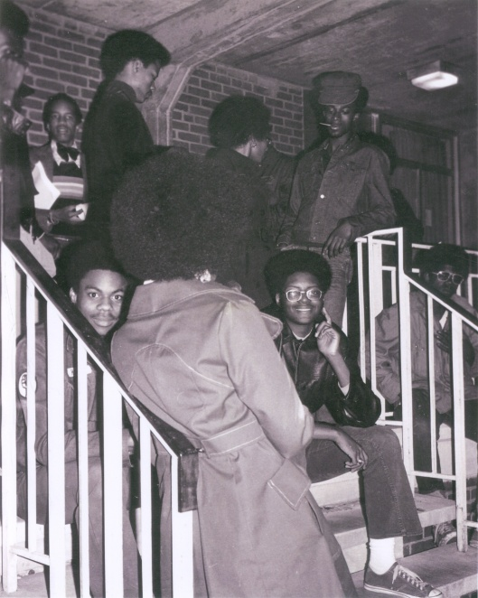 African American Students at the University of Virginia, circa 1970s; Photo Courtesy of Special Collections Library, UVA